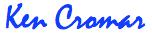 Ken Cromar signature blue 3 lg